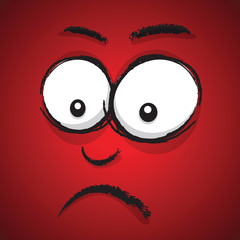 worried cartoon face