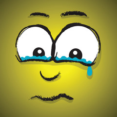 crying cartoon face