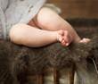 legs of a newborn girl