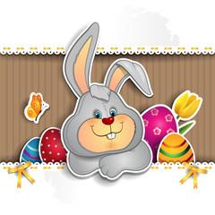 Bunny on cardboard