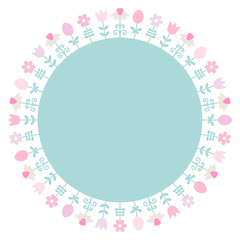 Frame Easter Meadow Retro Color