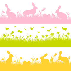 Easter Banner Meadow Bunny Mix