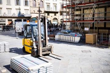 Muletto al cantiere del Battistero di Firenze