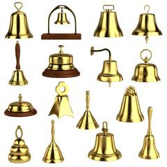 realistic 3d render of bells