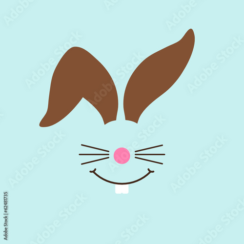 Abstract Bunny Easter Card Retro Pastel