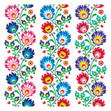 Fototapety Seamless traditional folk polish pattern - seamless embroidery
