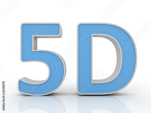 5d sign isolated on white background