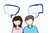 people icons  dialog speech bubbles