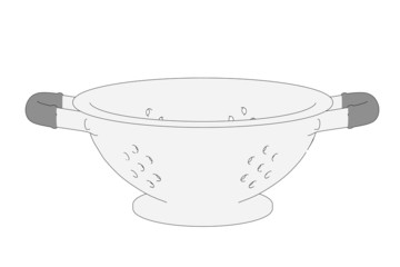 cartoon image of dish - sieve
