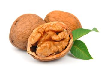 Walnuts close up