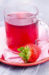 Tee, Erdbeertee, Erdbeeren, Obst