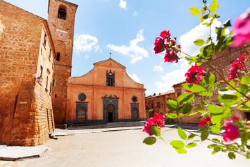 Square and Church of St. Donato. Civita di Bagnoregio