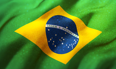 shiny flag of Brazil