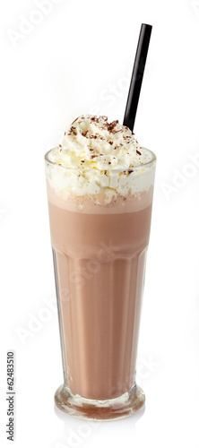 Leinwandbild Motiv Chocolate milkshake