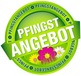 "Button Banner ""Pfingstangebot"" grün"