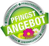 "Button Banner ""Pfingstangebot"" grün/silber"