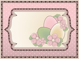 Easter background in vintage style, vector illustration