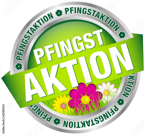 "Button Banner ""Pfingstaktion"" grün/silber"