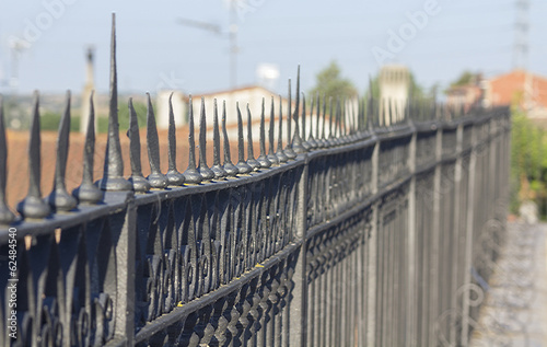 wrought iron fence in perspective