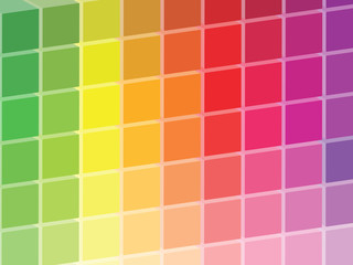 Rainbow Colored Squares Palette Illustration