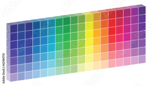 3D Color Palette Vector