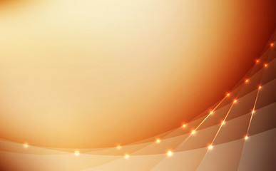 high quality abstract background bright golden lines glowing