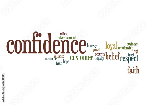 Confidence word cloud
