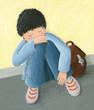 Abandoned little boy