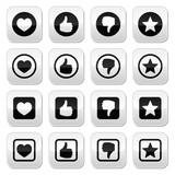 Like thumb up, love, favorite icons set
