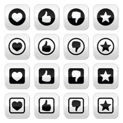 Like thumb up, love, favorite icons set