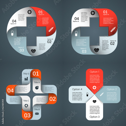 Vector templates set for your medical project