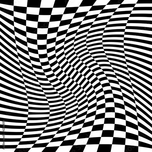 mata magnetyczna Motyw géométrique noir et blanc.