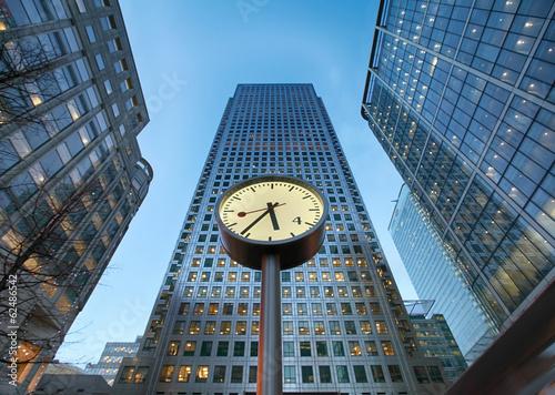 Deurstickers Artistiek mon. clock