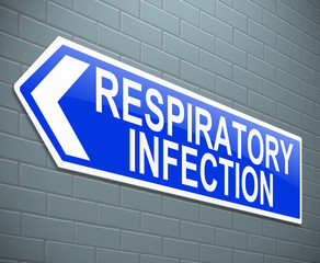 Respiratory infection concept.