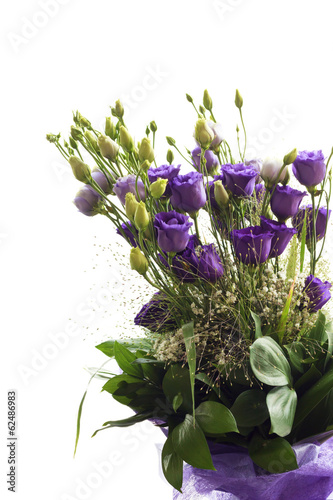 Bouquet of purple flowers