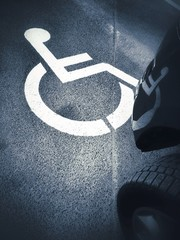 parking place for disabled persons