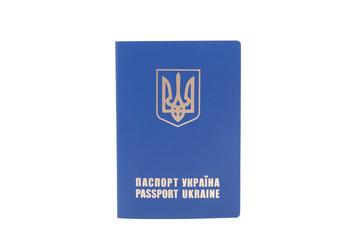 Ukrainian passport isolated on white background