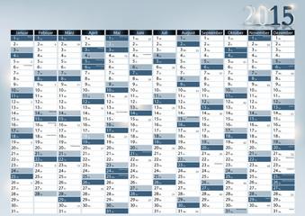 Jahreskalender 2015 mit Werbefläche