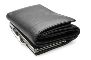 black purse - stock image
