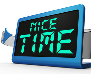 Nice Time Clock Means Enjoyable And Pleasant Experience