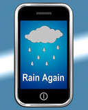Rain Again On Phone Shows Wet  Miserable Weather poster