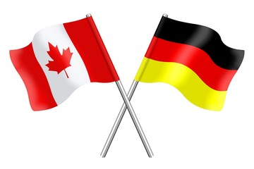 Flags : Canada and Germany