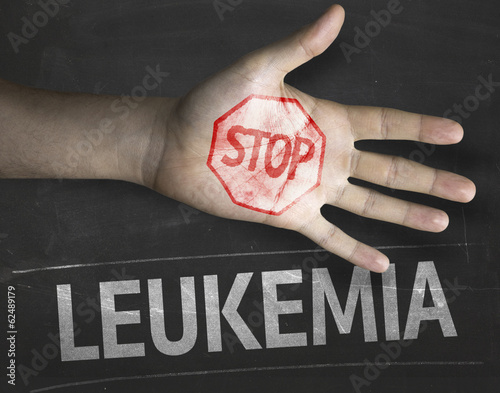 Educational composition with the message Stop Leukemia