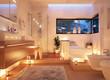 canvas print picture - Badezimmer im Kerzenlicht - candle light bathroom