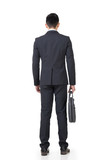 Rear view of Asian businessman