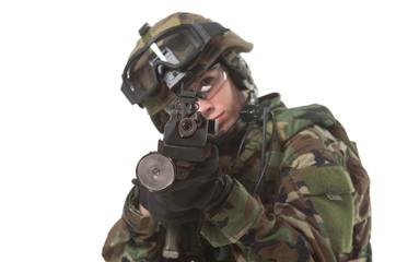 NATO soldier in full gear.
