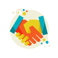 Flat design vector illustration concept with Handshake