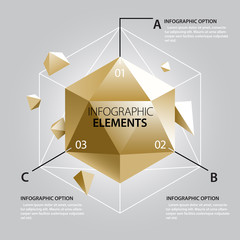 Polyhedron Infographics Template.
