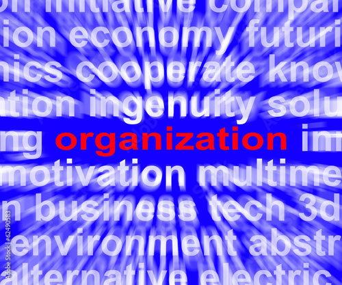 Organization Word Shows Institution  Or Be Organized