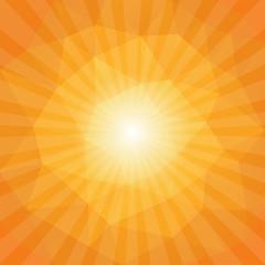 Sunset Sun Sunburst Pattern, Polygonal Design. Vector illustrati